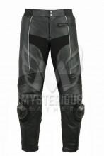 Mens Black Motorcycle Leather Racing Pant ML 7047P