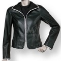 Women Short Fitted Soft Leather Jacket ML 7376