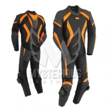 Mens 1 Piece Motorcycle Leather Racing Suit ML 7018