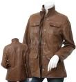 Women Fashion Leather Coat Style Jacket ML 7468