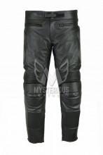 Mens Black Padded Leather Motorcycle Racing Pant ML 7168