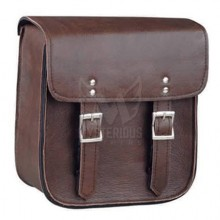 Brown Leather Motorcycle Sissy Bar Bag ML-7952 - Without Brads