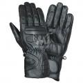 Black Leather Motorcycle Racing Gloves ML-4033