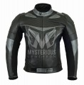 Mens Leather Motorbike Jackets ML 7079 - Metal/Black